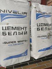 Белый цемент м-600  25 кг (Доставка)